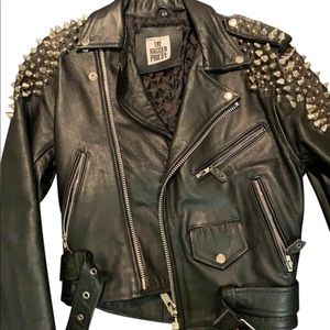THE RAGGED PRIEST LEATHER JACKET STUDDED